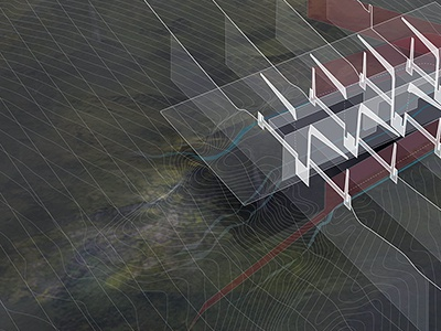 Meddling in Medellin.  gsd perspective section surface graphics illustration architecture