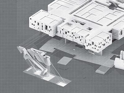 Ruinscape II. design illustrator photoshop rendering perspective surface graphics illustration architecture