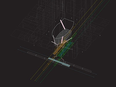 Slow-Fast, High-Low photoshop illustrator art direction urbanism gsd gis mapping surface graphics illustration