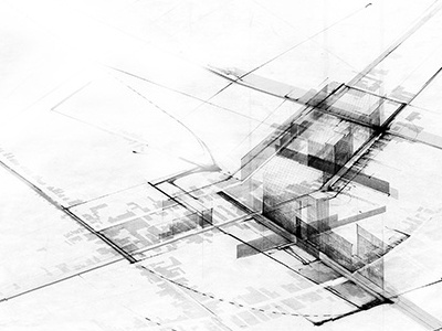 Aerial Reconstructions. gsd perspective section surface graphics illustration art direction architecture