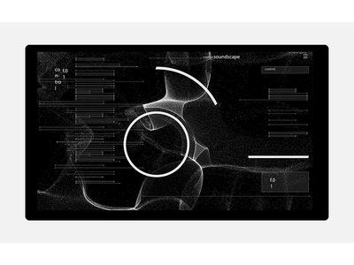 soundscape. sound data interface web illustration interaction design graphic uiux