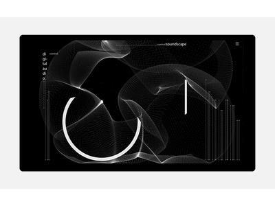 soundscape II. graphics data interface design interactive illustration uiux