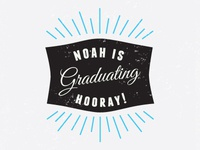 Brother's graduation announcement