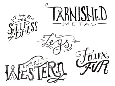 Free People Fall Trend Lettering