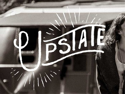 Upstate typography hand drawn lettering