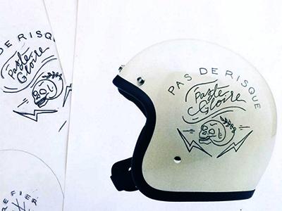 Bonanza Painting biltwell skulls illustration lettering motorcycle helmets moto