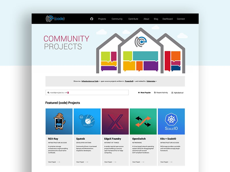 Project Page Design For Dell S Open Source Initiative By Fullstack