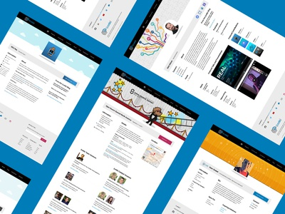 Landing Page Design member event project ui visual design web clean landing page specific
