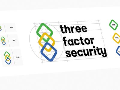 Logomark Construction & Breakdown for Three Factor Security