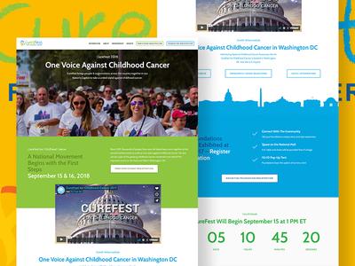 Curefest Homepage Design