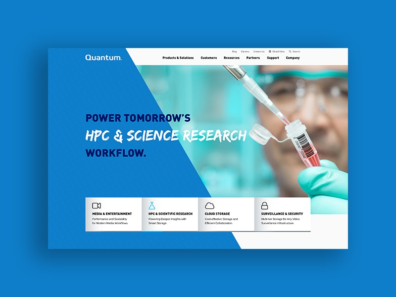 Homepage Concept for Quantum