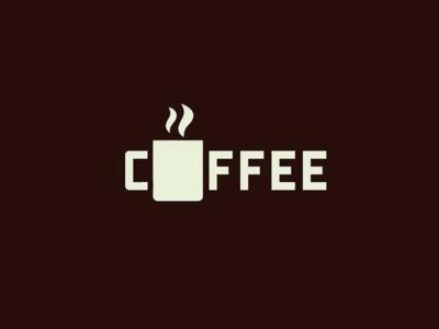 Coffee drink mug logotype wordmark coffee