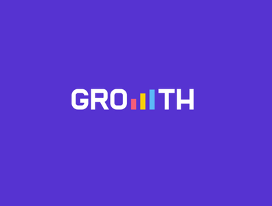 Growth investment finance growth grow logotype wordmark design creative clever minimal simple logo