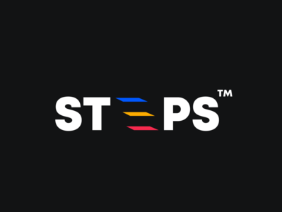 Steps  logo success job work walk steps wordmark design creative clever minimal simple logo