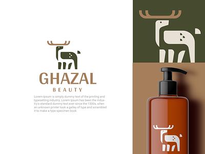 Ghazal cosmetic forest beauty deer design animal creative clever minimal simple logo