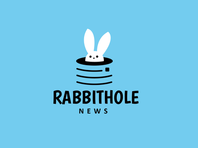 Rabbit hole news creative logo news rabbit design animal creative clever minimal simple logo