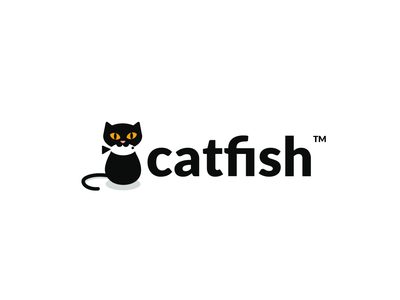 catfish agency detective fish cat design animal creative clever simple minimal logo