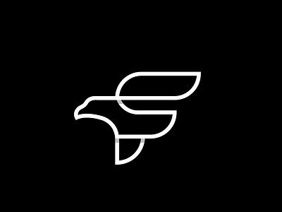 Falcon monogram eagle falcon lineart monoline creative clever simple minimal logo