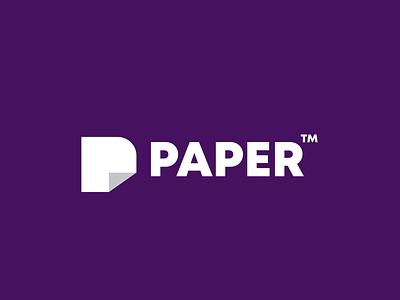 paper monogram paper design animal creative clever simple minimal logo