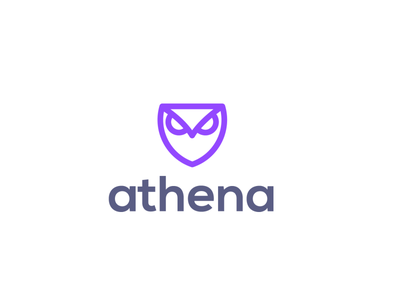 athena approved design owl security protection protect shield bird animal design creative clever simple minimal logo