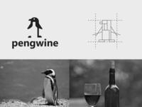 pengwine bird drink bottle wine penguin negativespace creative clever simple minimal logo