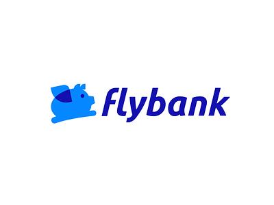 Flybank piggy money bank fly pig design creative clever simple minimal logo