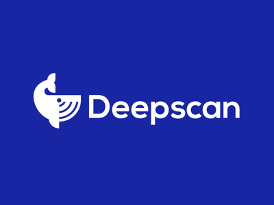 Deepscan scanner scan waves ocean whale animal design creative clever simple minimal logo