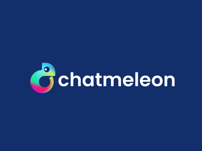 chatmeleon colorful colors negative space chat app speak community talk chat chameleon animal design creative clever simple minimal logo