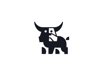 bulldog logo financial finance creative geomtric geometry minimal clever simple negativespace bulldog dog bull