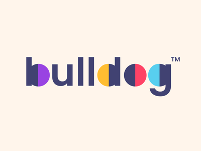 bulldog colorful colors growth invest brand finance bulldog bull dog design creative clever simple minimal logo