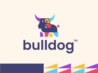 bulldog financial investment investing invest finance bulldog bull dog animal design creative clever simple minimal logo