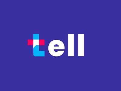 tell business technology tech modern communication speak chat talk design creative clever simple minimal logo