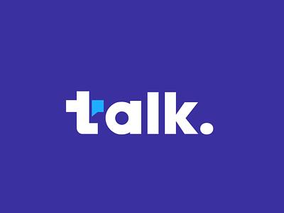 Talk chat app speak communication talk chat wordmark monogram branding design clever creative simple minimal logo