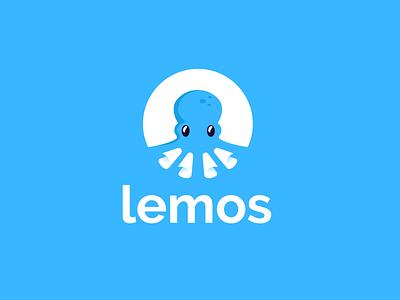 lemos paper animal design creative clever simple minimal logo task automation restaurant food sea ocean octopus