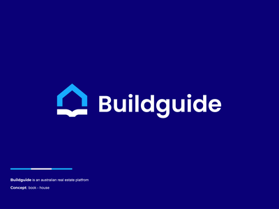 Buidguide design creative clever simple minimal logo home modern catalogue book guide build realestate house
