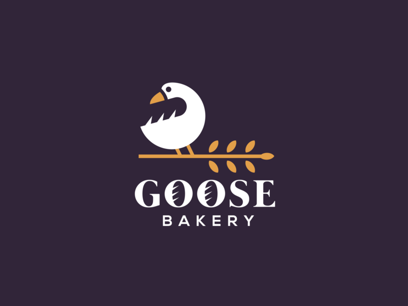 GOOSE BAKERY bakery baking goose bird creative clever simple minimal animal logo