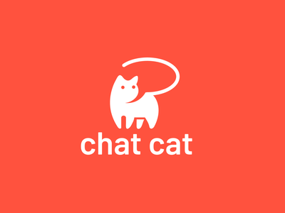chat cat pet chat design animal creative clever minimal simple logo cat