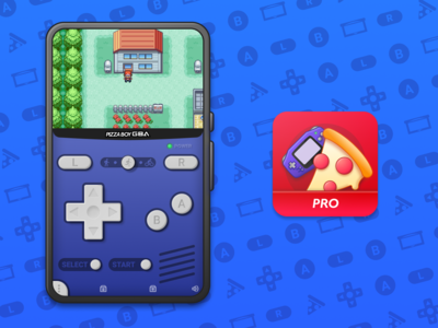 Pizza Boy GBA Product Icon and UI