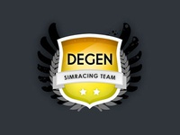 "Degen Simracing Team logo ""The Shield"""