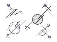 Gray & Purple Futurism Illustration
