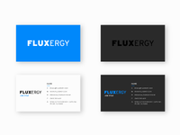 Fluxergy Business Cards Mockup