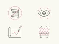 sugar eye plan barrier icons