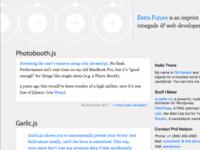 """extrafuture.com Wordpress theme """"Herenow"""""""