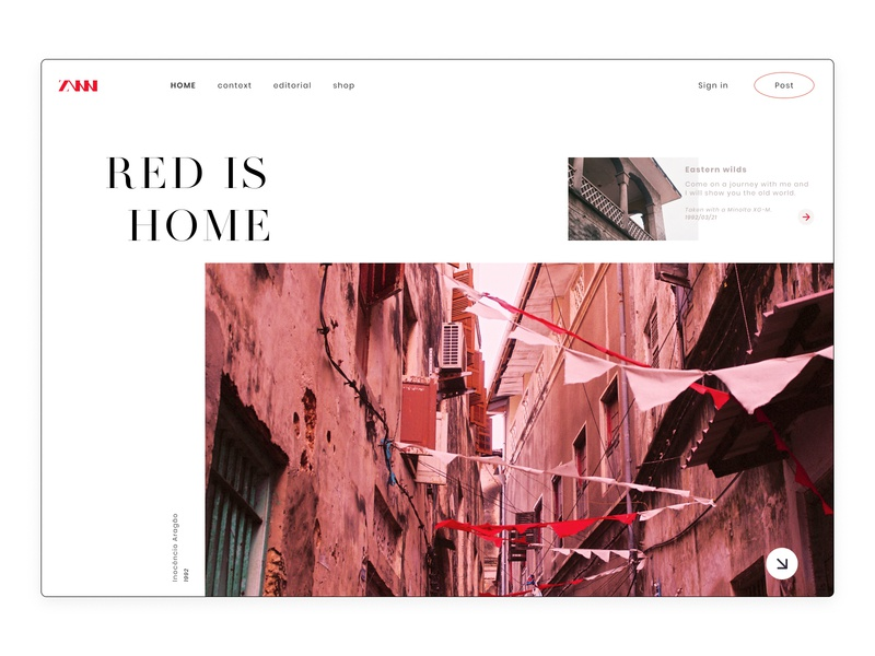 RED IS WHERE HOME IS figma design figmadesign uidesign uix figma unsplash flat dailyui daily challenge design daily ui challenge ux uiux web design user interface design ui