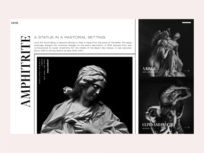 Louvre — Concept landing page // 001 interface typography clean layout design photography uiux website concept web design image slider landing page website product design sculpture art website design