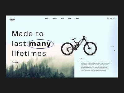 Santa Cruz — Concept Redesign // 001 interface typogaphy image slider website concept product design landingpage uiux website photography santa cruz redesign mountain bikes bikes