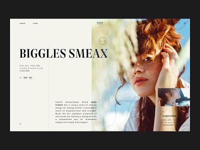 SADA STUDIO — Style Frames // 001 web design fashion studio interfacedesign web designer inspiration serif font uiux photography product design figma daily ui user interface design