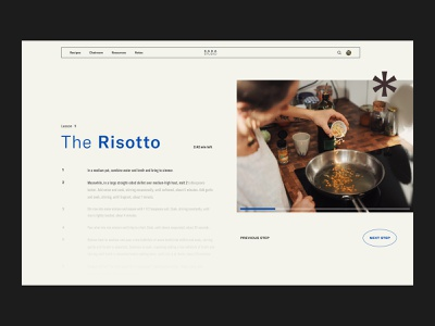 SADA STUDIO — Style Frames // 007 web design studio interfacedesign web designer inspiration serif font uiux daily ui user interface design figma photography sans serif ui layoutdesign product design webdesign navigation cooking