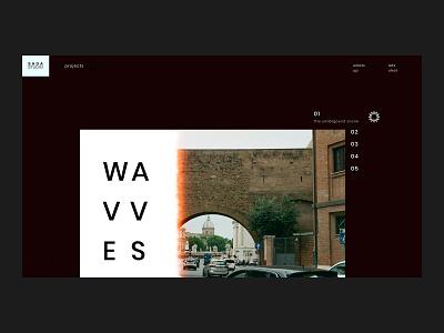 SADA STUDIO — Wavvves // 011 layout design sans serif serif typography web design fashion studio interfacedesign web designer inspiration serif font uiux photography product design figma daily ui user interface design