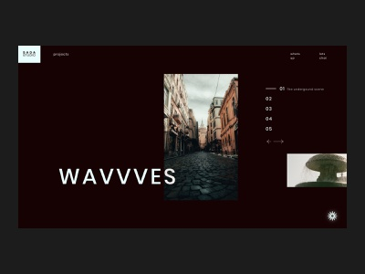 SADA STUDIO — Wavvves // 012 layout design sans serif serif typography web design fashion studio interfacedesign web designer inspiration serif font uiux photography product design figma daily ui user interface design